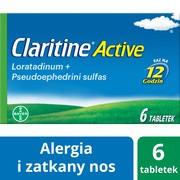 Claritine Active, 5 mg + 120 mg, tabletki o przedłużonym uwalnianiu, 6 szt.