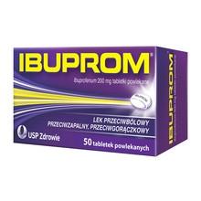Ibuprom, 200 mg, tabletki powlekane, 50 szt.