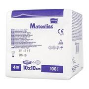Kompresy włókninowe niejałowe, Matovlies, 10x10, 4warstwowe, 30g, 100 szt.