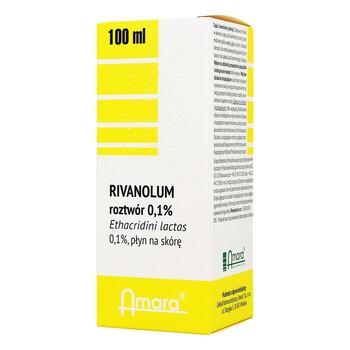 Rivanolum roztwór 0,1%, płyn na skórę, 100 ml (Amara)