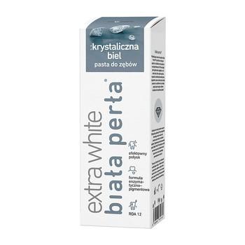 Biała Perła Plus Krystaliczna Biel, wybielająca pasta do zębów, 75 ml