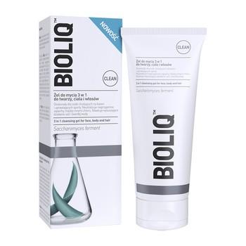 Bioliq Clean, żel do mycia 3 w 1 do twarzy ciała i włosów, 180 ml