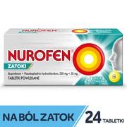 Nurofen Zatoki, 200 mg + 30 mg, tabletki powlekane, 24 szt.