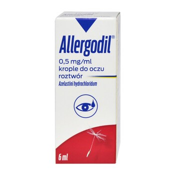 Allergodil, 0,5 mg /ml, krople do oczu, 6 ml