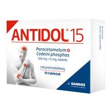 Antidol 15, 500 mg+15 mg, tabletki, 10 szt.