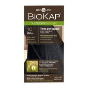 Biokap Nutricolor Delicato, farba do włosów, 1.0 naturalna czerń, 140 ml