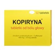 Kopiryna - tabletki od bólu głowy, 400 mg + 50 mg, tabletki, 12 szt.