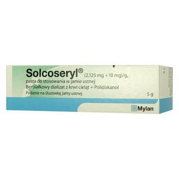 Solcoseryl, (2,125 mg+10 mg)/g, pasta do stosowania w jamie ustnej, 5 g