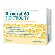 Dicodral 60, elektrolity, 12 saszetek