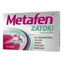 Metafen Zatoki, 200 mg+30 mg, tabletki powlekane, 10 szt.