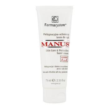 Farmasystem Manus, pielęgnacyjno-ochronny krem do rąk z witaminami A i E, 75 ml