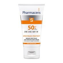 Pharmaceris S, krem o szerokopasmowej ochronie przed słońcem dla dzieci i dorosłych SPF 50+, 50 ml