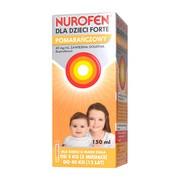 Nurofen dla dzieci Forte pomarańczowy, 40mg/ml, zawiesina doustna, 150 ml