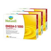 Zestaw 3x Naturell Omega-3 1000, kapsułki, 60 szt.