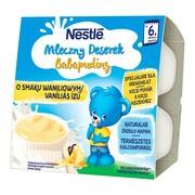 Nestle Mleczny Deserek, waniliowy, po 6 miesiącu, 4 x 100 g