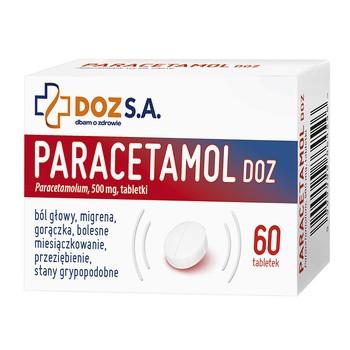 Paracetamol DOZ, 500 mg, tabletki, 60 szt.