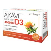 Akavit witamina D3, 4000IU, kapsułki, 120 szt.