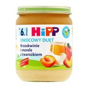 HiPP BIO brzoskwinie i morele z twarożkiem, po 6. miesiącu, 160 g