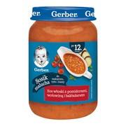 Gerber, sos włoski z pomidorami, wołowiną i bakłażanem, 12 m+, 190 g