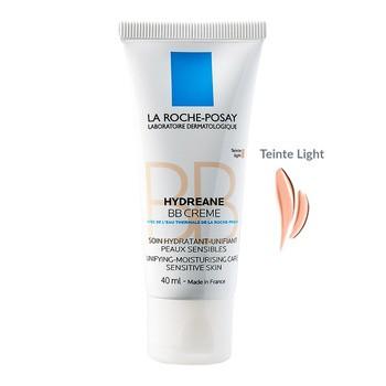 La Roche-Posay Hydreane BB, krem nawilżający dla skóry wrażliwej, SPF 20, light, 40 ml