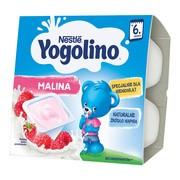 Nestle Jogurcik, malina, deser mleczno-owocowy, 6 m+, 4 x 100 g