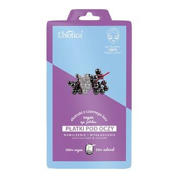 L`Biotica, płatki pod oczy Vegan ekstrakt z czarnego bzu, 2 szt