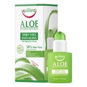 Equilibra, aloesowe przeciwstarzeniowe serum do twarzy z kwasem hialuronowym, 30 ml