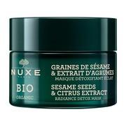 Nuxe Bio Organic, rozświetlająca maska detoksykująca, ekstrakt z cytrusów i ziaren sezamu, 50 ml