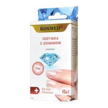Kosmed, odżywka do paznokci, z jedwabiem, 9 ml