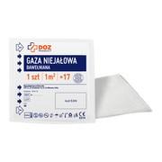 DOZ PRODUCT Gaza niejałowa, bawełniana, 17 nitkowa, 1 m2, 1 szt.