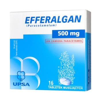 Efferalgan, 500 mg, tabletki musujące, 16 szt.