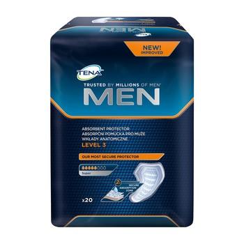 TENA Men Super, wkłady anatomiczne, level 3, 20 szt.