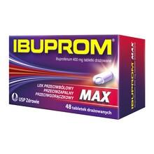 Ibuprom Max, 400 mg, tabletki drażowane, 48 szt.