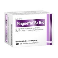 Magnefar B6 Bio, tabletki powlekane, 50 szt.