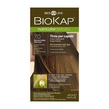 Biokap Nutricolor Delicato, farba do włosów, 7.0 średni naturalny blond, 140 ml