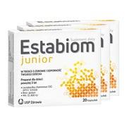 Zestaw 3x Estabiom junior, kapsułki, 20 szt.