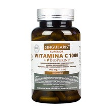 Singularis Witamina C 1000 mg + Bioperine 1 mg, kapsułki, 120 szt.