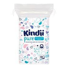 Cleanic Kindii, Baby Sensitive, płatki bawełniane dla niemowląt, 60 szt.