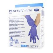 Rękawice Peha-Soft Nitrile Fino, bezpudrowe, diagnostyczne, rozmiar S, 10 szt.