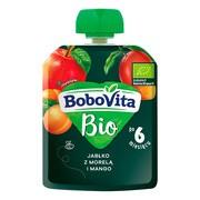 BoboVita Bio, mus jabłko z morelą i mango, 6 m+, 80 g