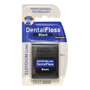 Elgydium Clinic Dental Floss, nić dentystyczna czarna, 50 m