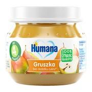 Humana 100% Organic, Deserek Gruszka, 4 m+, 80 g