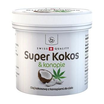 Herbamedicus Super Kokos & konopie, olej kokosowy z konopiami do ciała, 150 ml