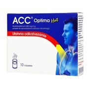 ACC optima Hot, 600mg/3g, proszek do sporządzania roztworu doustnego, 10 saszetek