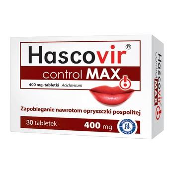 Hascovir control MAX, 400 mg, tabletki, 30 szt.