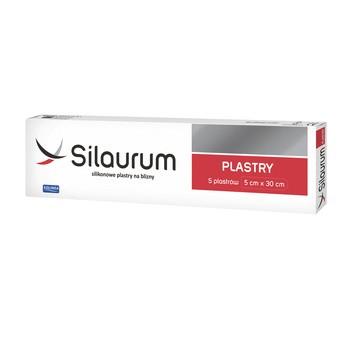 Silaurum, plastry silikonowe na blizny, 5 cm x 30 cm, 5 szt.