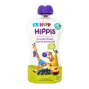 HiPP HiPPiS BIO, mus gruszki, śliwki, czarne porzeczki, po 6. miesiącu, 100 g