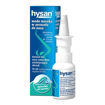Hysan, woda morska do nosa w aerozolu, 10 ml