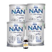 Zestaw 4x Mleko Nan Optipro Plus 2 + NanCare Vitamin D