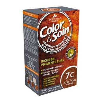 Color&Soin, farba do włosów, miedziany ciemny blond (7C), 135ml